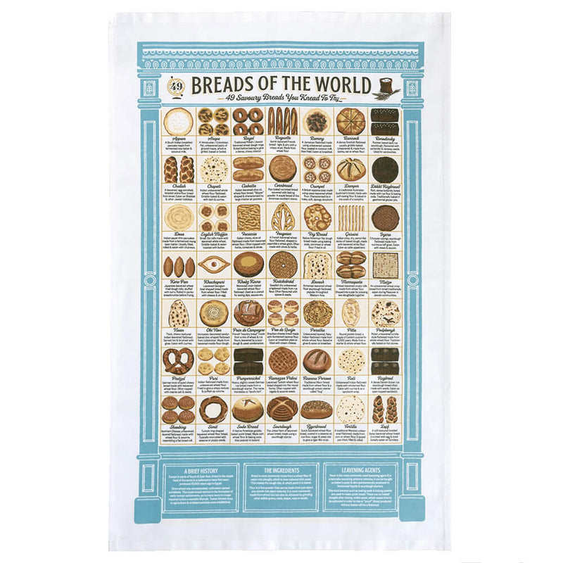 Stuart Gardiner Design Breads of the World 100% Cotton Tea Towel