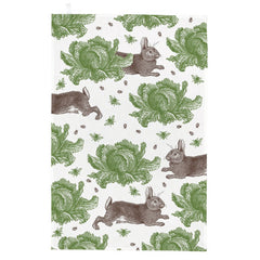 Thornback & Peel Rabbit & Cabbage 100% Cotton Kitchen Tea Towel