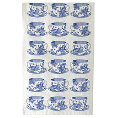 Elite Tins Thornback & Peel Blue Teacup 100% Cotton Kitchen Tea Towel