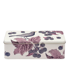 Elite Tins Thornback & Peel Blackbird & Bramble Rectangle Storage Tin