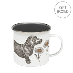 Elite Tins Thornback & Peel Dog & Daisy Gift Boxed Enamel Mug 500ml