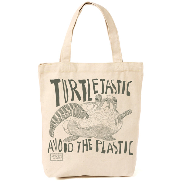 Turtletastic Cotton Canvas Shopper Bag