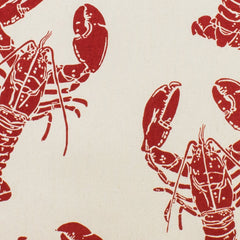 Block Print Lobster Cotton Tea Towel by Ulster Weavers