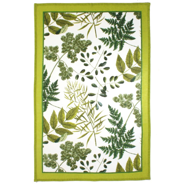 RHS Foliage Linen Tea Towel
