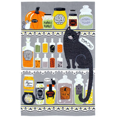 Ulster Weavers Hubble Bubble Halloween Witch's Cat Cotton Tea Towel