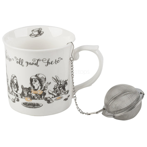 V&A Alice in Wonderland China Mug & Tea Infuser Set