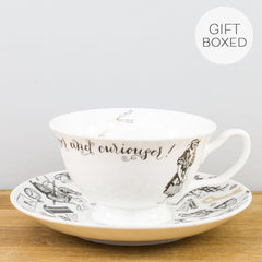 Creative Tops V&A Alice in Wonderland Gold Fine China Gift Box Teacup