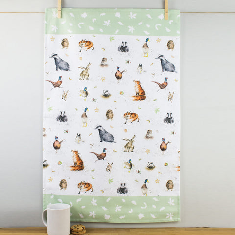 Wrendale Designs The Country Set Cotton Tea Towel by Pimpernel