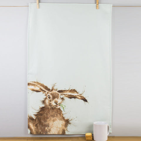 Wrendale Designs Hare Tea Towel by Pimpernel