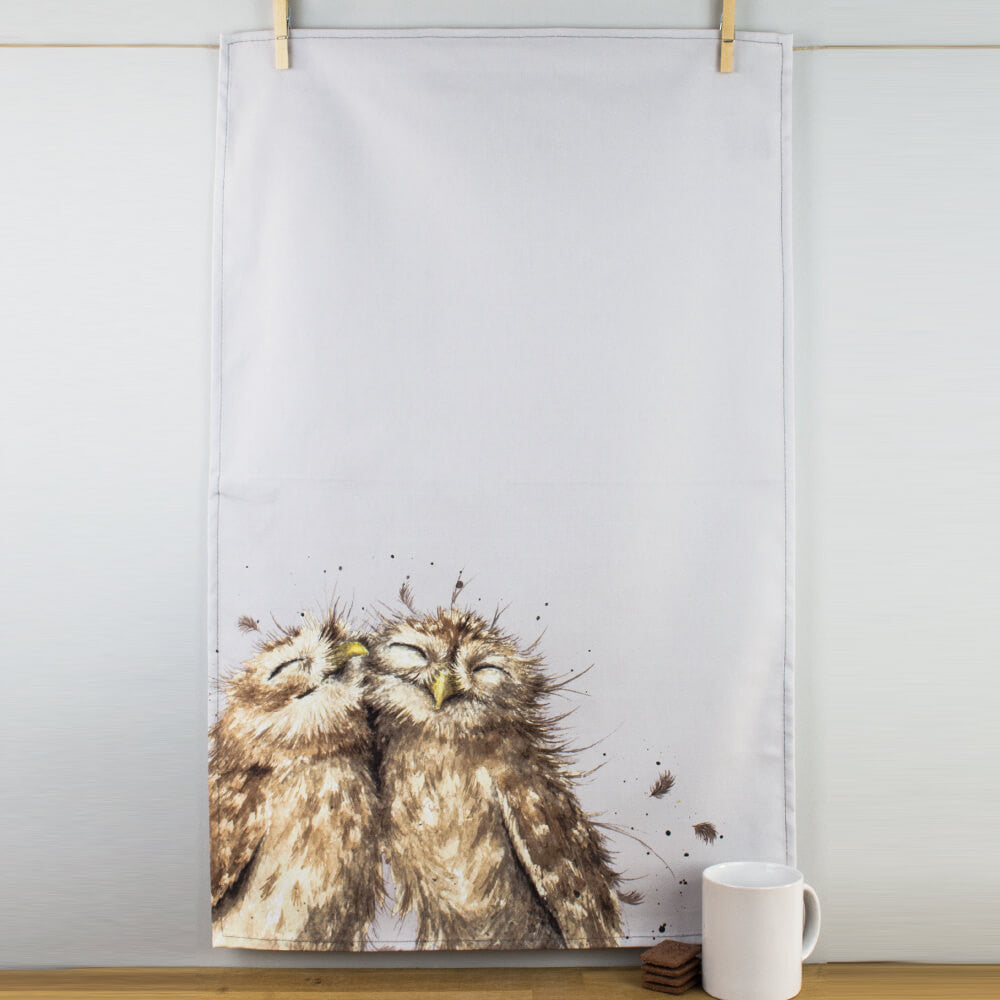Portmeirion Wrendale Designs Owl Cotton Tea Towel by Pimpernel