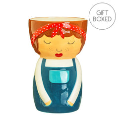 Sass & Belle My Kind Of People Libby Shaped Ceramic Vase Gift Boxed