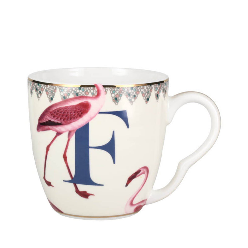 Yvonne Ellen Animal Alphabet Monogrammed Bone China Gift Mug