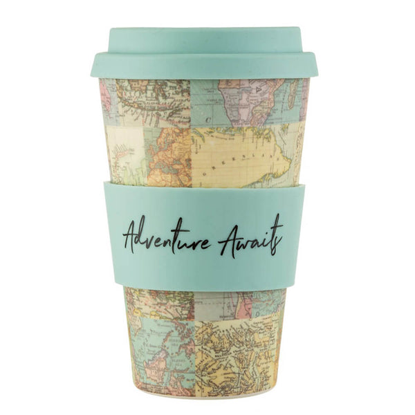Bamboo Vintage Map Collage Coffee Cup