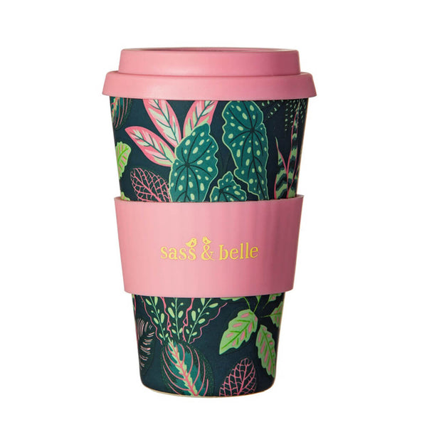Bamboo Variegated Leaves Coffee Cup