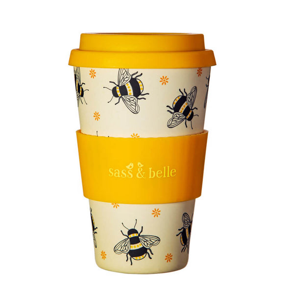 Bamboo Busy Bees Coffee Cup
