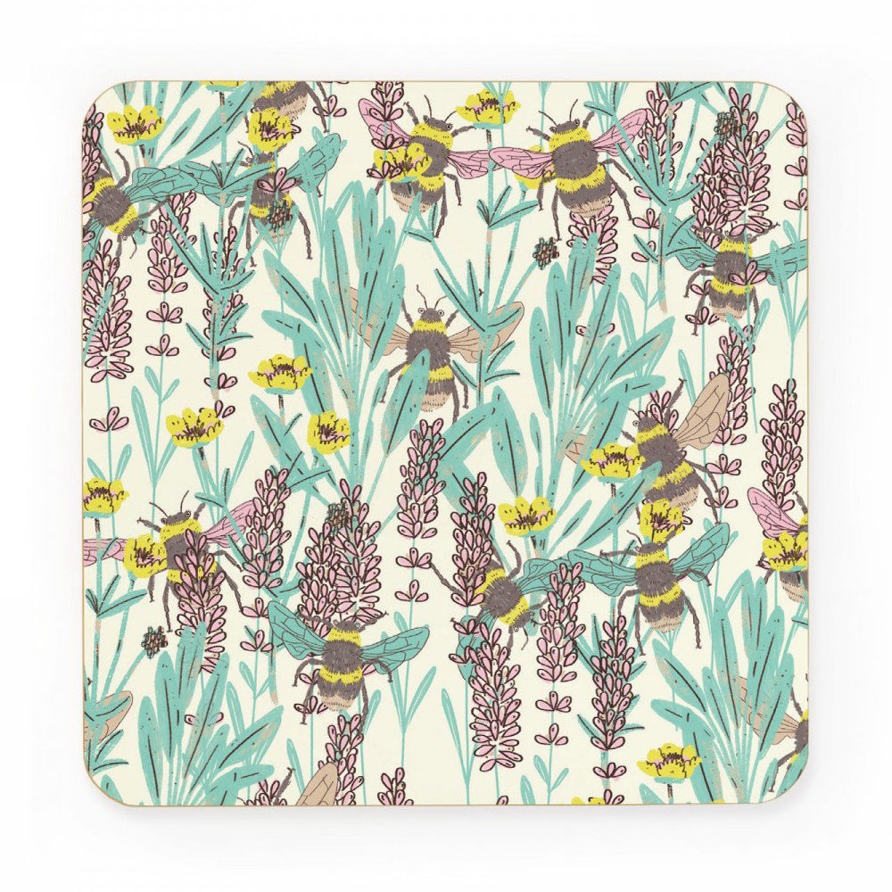 Ohh Deer Made in the UK Bumblebee Meadow Cork Coaster