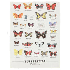 Gift Republic Ecologie Papiliones Butterflies Cream Cotton Tea Towel