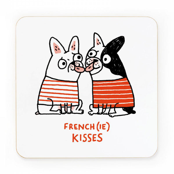 Gemma Correll Frenchie Kisses Coaster