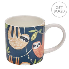 Ulster Weavers Hanging Around Sloth China Mug Gift Boxed Coffee Cup