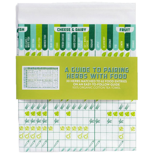 A Guide to Pairing Herbs with Food Cotton Tea Towel