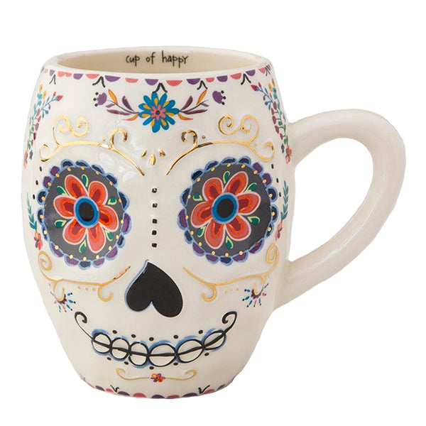 Cup Of Happy Sugar Skull Shaped Ceramic Mug