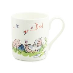 Quentin Blake Dad Relax in the Garden Bone China Personalised Gift Mug
