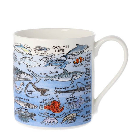 Ocean Life China Mug by Picturemaps