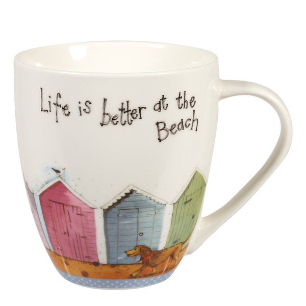 Alex Clark Life Is Better At The Beach China Mug