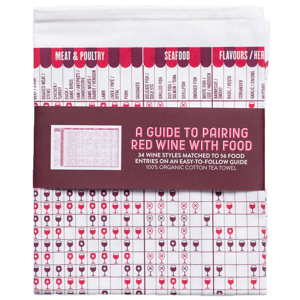 A Guide to Pairing Red Wine with Food Cotton Tea Towel