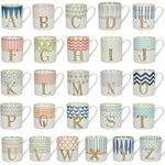 Creative Tops Fine China Alphabet A to Z Letter Gift Mugs