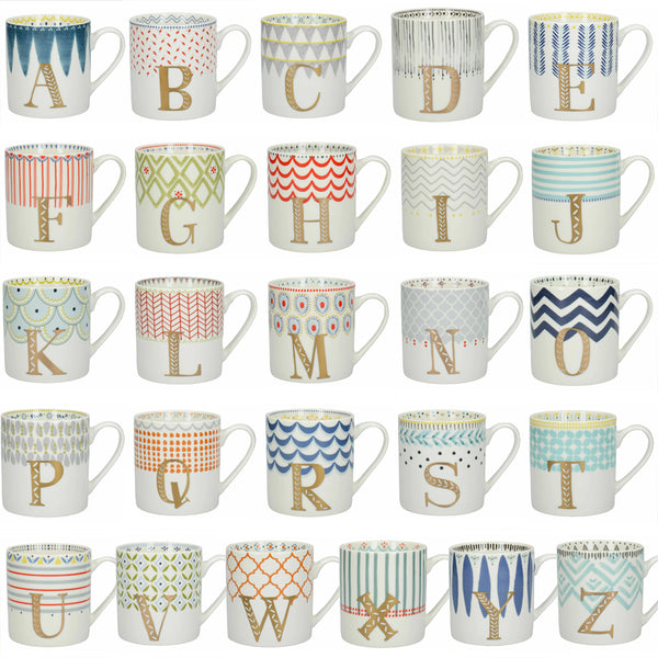 Alphabet Letters A to Z Mugs