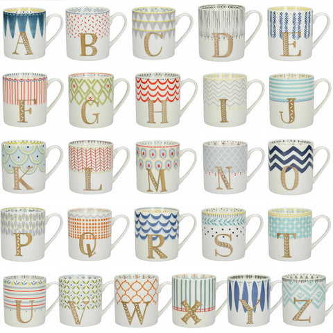 Alphabet Letters A to Z Mugs by Creative Tops