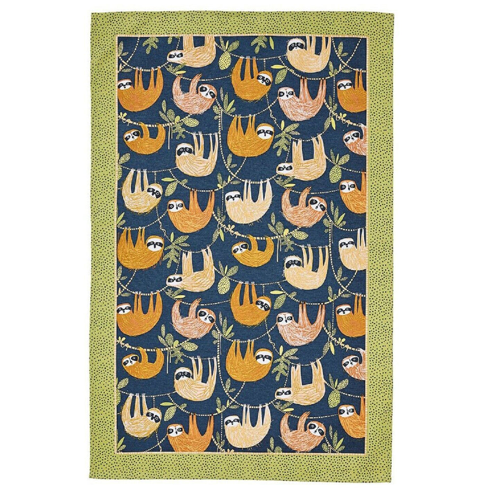 Ulster Weavers Hanging Around Sloth Design Tea Towel  Free UK Delivery