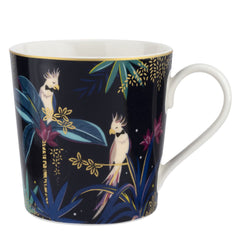 Portmeirion Sara Miller Tahiti Cockatoo Fine China Gift Boxed Mug