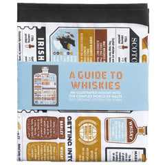 A Guide To Whiskies Whisky Themed Tea Towel by Stuart Gardiner Design