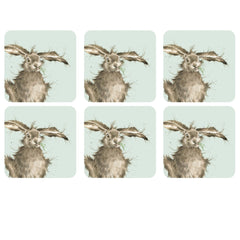 Pimpernel Wrendale Designs Set of 6 Hare Cork Backed Coasters