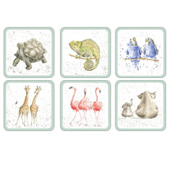 Pimpernel Wrendale Designs Set of 6 Zoological Animal Cork Coasters