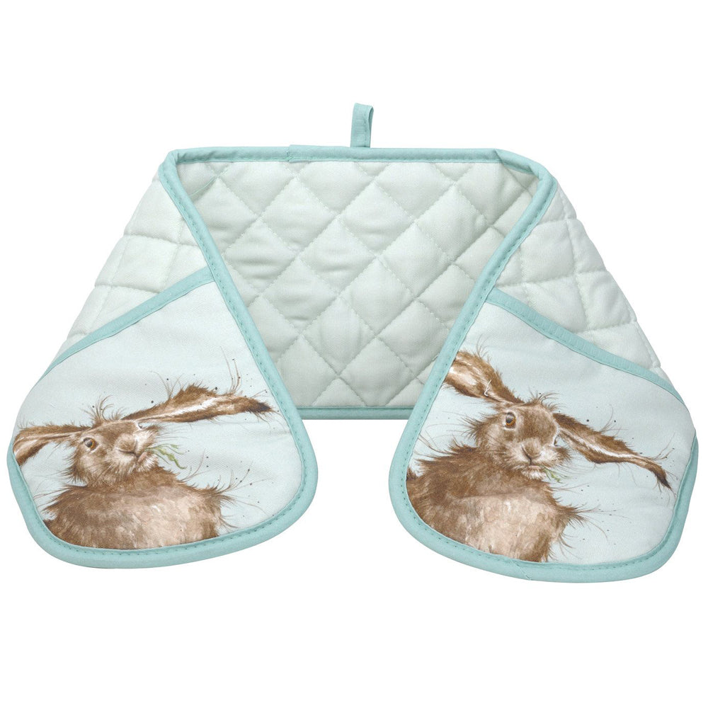 Wrendale Designs Hare Cotton Double Oven Glove by Pimpernel