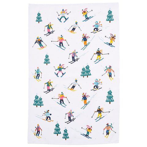 Ski Slopes Cotton Tea Towel by Ulster Weavers