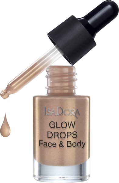 IsaDora Glow Drops Face & Body Golden Edition 370 Golden glow - Cleanskin.dk
