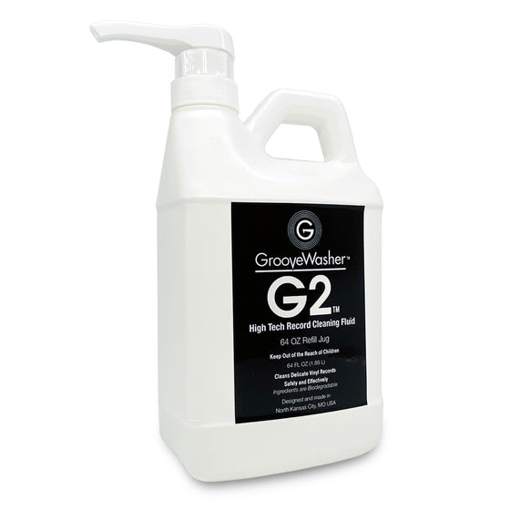 GrooveWasher G2 Record Cleaning Fluid-64oz Refill Jug
