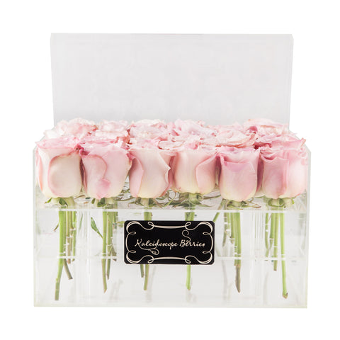 Leap of Faith - Faith Roses in Crystal Quartz Toned Acrylic Box