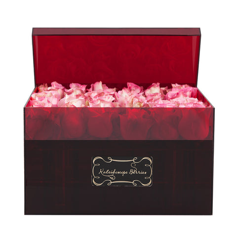 Moulin Rouge - Red Acrylic Box with Pink Rose
