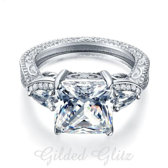 4ct Vintage Style Engagement