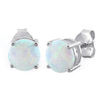 7mm Opal Stud Earrings