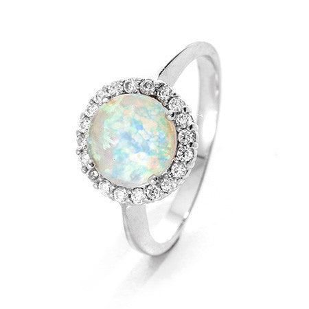 Bette's Opal CZ Ring