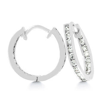 CZ Illusion Hoops Small