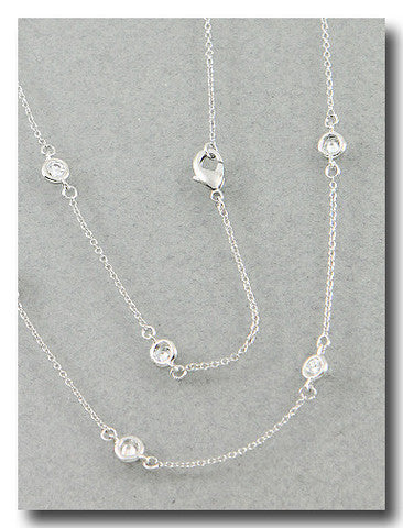 CZ By The Yard Necklace