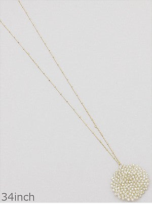 Champagne Bead Cluster Necklace