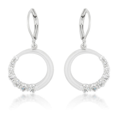 Circle and Crescent Earrings